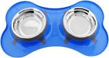 Color Splash - Designer Bone Shape Fusion Diner - Blue - for Dog/Cat - 32 Oz - 4 Cups