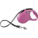 Flexi North America - Classic Small Tape Retractable Leash - Pink - 16 Ft
