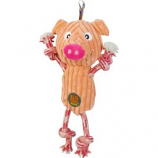 Charming Pet Products - Ranch Roperz Pig Dog Toy - Pink - Med/12 Inch
