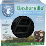 The Company Of Animals -Baskerville Ultra Moldable Muzzle - Black - Size 1