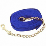 Imported Horse Supply - Lunge Line With Chain - Blue - 20 Feet