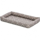 Midwest Container - Beds -Quiet Time Couture Ashton Bolster Bed - Mushroom - 24 Inch
