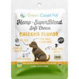Green Coast Pet - Trial-Size Hemp + Superblend Chicken Soft Chew - Chicken - 3 Ct