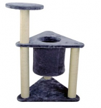 Iconic Pet - Two-Tier Deluxe Cat Tree Condo Furniture with Sisal Ropes