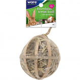 Ware - Bird/Sm An -Critter Ware Bambo Treat Ball W Hay -Natural