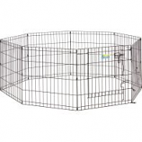 Midwest Container -Contour Exercise Pen With Door - Black - 24In
