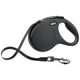 Flexi North America - Classic Large Tape Retractable Leash - Black - Large 110 Lbs