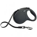 Flexi North America - Classic Large Tape Retractable Leash - Black - Large 110 Lbs