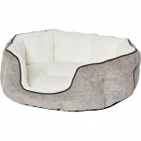 Midwest Homes For Pets - Quiet Time Tulip Pet Bed Fur - Taupe - Small