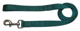 """Leather Brothers - 1"""" X 4' One-Ply Nylon Lead - Nickle Bolt - Green"""