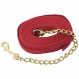 Imported Horse Supply - Lunge Line With Chain - Red - 20 Feet