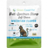 Green Coast Pet - Trial-Size Full-Spectrum Soft Chew For Cats - Whitefish - 3 Ct