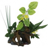 Blue Ribbon Pet Products -Exotic Environments Chestnut with Plants - Large