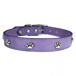 "Leather Brothers - 1"" Regular Leather Paw Ornament - Lavender - 24"" Length"