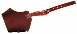 """Leather Brothers - 6.75"""" Leather Muzzle - Xsmall - Burgundy"""