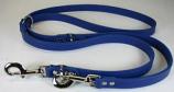 "Leather Brothers - 3/4"" Signature European Leather Lead - Blue - 6 Feet"
