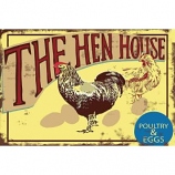 Chickenguardian - The Hen House Metal Sign - 12X16