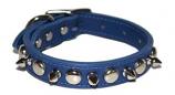 "Leather Brothers - 3/4"" Regular Leather Spike & Stud - Blue - 18"" Length"
