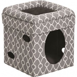 Midwest Homes For Pets - Curious Cat Cube - Gray - 15X15X16.5
