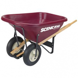 Scenic Road Mfg  - Wheelbarrow - Parts Box For M8 - 2R Wheelbarrow - Maroon - 8 Cu Ft