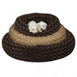 Slumber Pet -  Swirl Plush Donut Bed 18 Inch Brown - Small - Chocolate