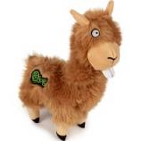 Quaker Pet Group -Godog Buck Tooth Llama Durable Plush Dog Toy - Tan - Small