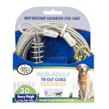 Four Paws - Container - Four Paws Dog Tie Out Cable- Heavyweight - Silver - 30 Ft