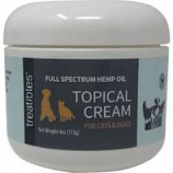 Treatibles -Full Spectrum Hemp Oil Topical Cream Cats And Dogs - 4 Ounce