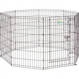 Midwest Container -Contour Exercise Pen With Door - Black - 36In