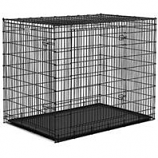 Midwest Homes For Pets - Solutions Double Door Dog Crate - Black / White - 54 X 37 X 45 Inch