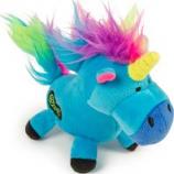 Quaker Pet Group -Godog Unicorns Durable Plush Dog Toy - Blue - Large