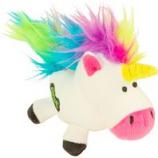 Quaker Pet Group -Godog Unicorns Just For Me Durable Plush Dog Toy - White - Mini