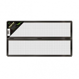 Zilla -Fresh Air Screen Cover With Center Hinge -Black -48X13 Inch-Black-48X13 Inch