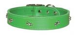 """Leather Brothers - 1/2"""" Regular Leather Bone Ornament - Emerald Green - 10"""" Length"""