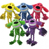 Multipet International - Loofa Dog With Rope Body - Assorted - 11 Inch