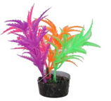 Blue Ribbon Pet Products - Color Burst Florals Jagged Sword Multi - Glow - 1.25X1.25X3.25 Inch