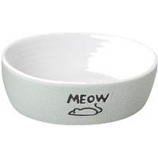 Ethical Stoneware Dish - Nantucket Meow Cat Stoneware Dish - Grey - 5 Inch