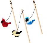 Ethical Cat - Songbird Teaser Wand - Assorted