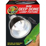 Zoo Med - Mini Deep Dome Lamp Fixture - Black 5.5 Inch