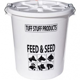 Tuff Stuff Products - Feed Storage Drum With Locking Lid -White -17 Gallon