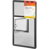 Zilla - Fresh Air Screen Cover With Hinged Door - Black - 20 x 10 Inch