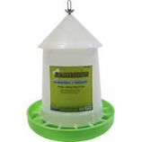 Ware Manufacturing - Chicken Feeder W Adjustment 17Lb - White / Green - 17 Lb