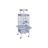 Prevue Pet Products - Signature Series Select Wrought Iron Cage - Pewter - 18 X 18 X 57 Inch