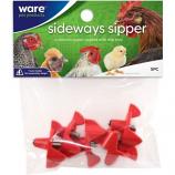 Ware -Sideways Sipper Horizontal Water Nipples -Red -5 Pack