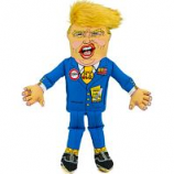 Fuzzu - Donald Presidential Parody Dog Toy - Blue - Xlarge
