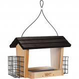 Natures Way Bird Products - Hopper Feeder With Suet Cages - Cedar- 6 Quart Cap