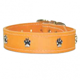 "Leather Brothers - 1"" Regular Leather Paw Ornament - Mandarin  - 24"" Length"