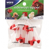 Ware -Sideways Sipper Nipples With Extension Tubes -Red/Clear -4 Pack