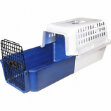 Van Ness Plastic Molding - Calm Carrier For Cats With E-Z Load Drawer - White/Blue - 13X14X20 Inch