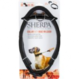 Quaker Pet Group -Sherpa Dog Collar With Built In Leash - Black - X Large